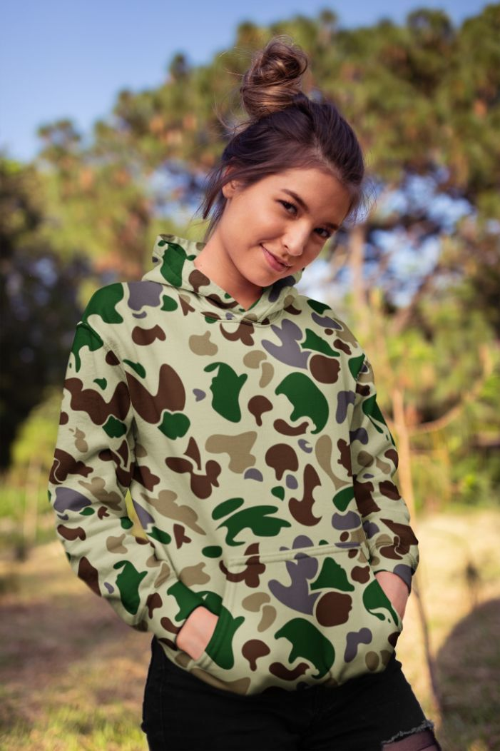 Ladies Army Camo Sublimation Hoodie