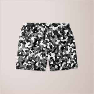 Ladies Snow Pattern Camouflage Style Plakat Shorts