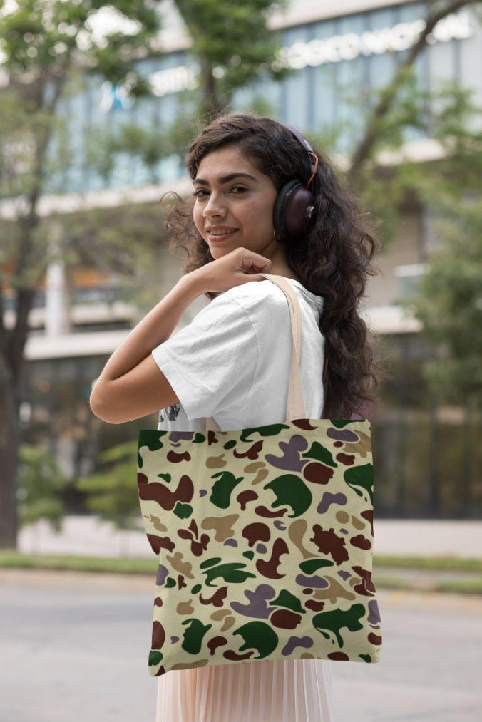Army Camo Tote Bag Unisex