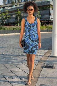 Ladies Blue Camo Sublimation Cut & Sew Dress