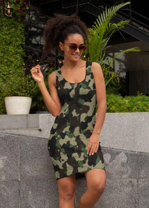 Ladies Classic Camouflage Pattern Plakat Sublimation Cut & Sew Dress