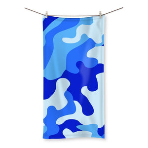 Blue Camo 1 Beach Towel