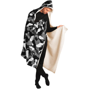 Snow Camouflage Pattern Plakat Hooded Blanket
