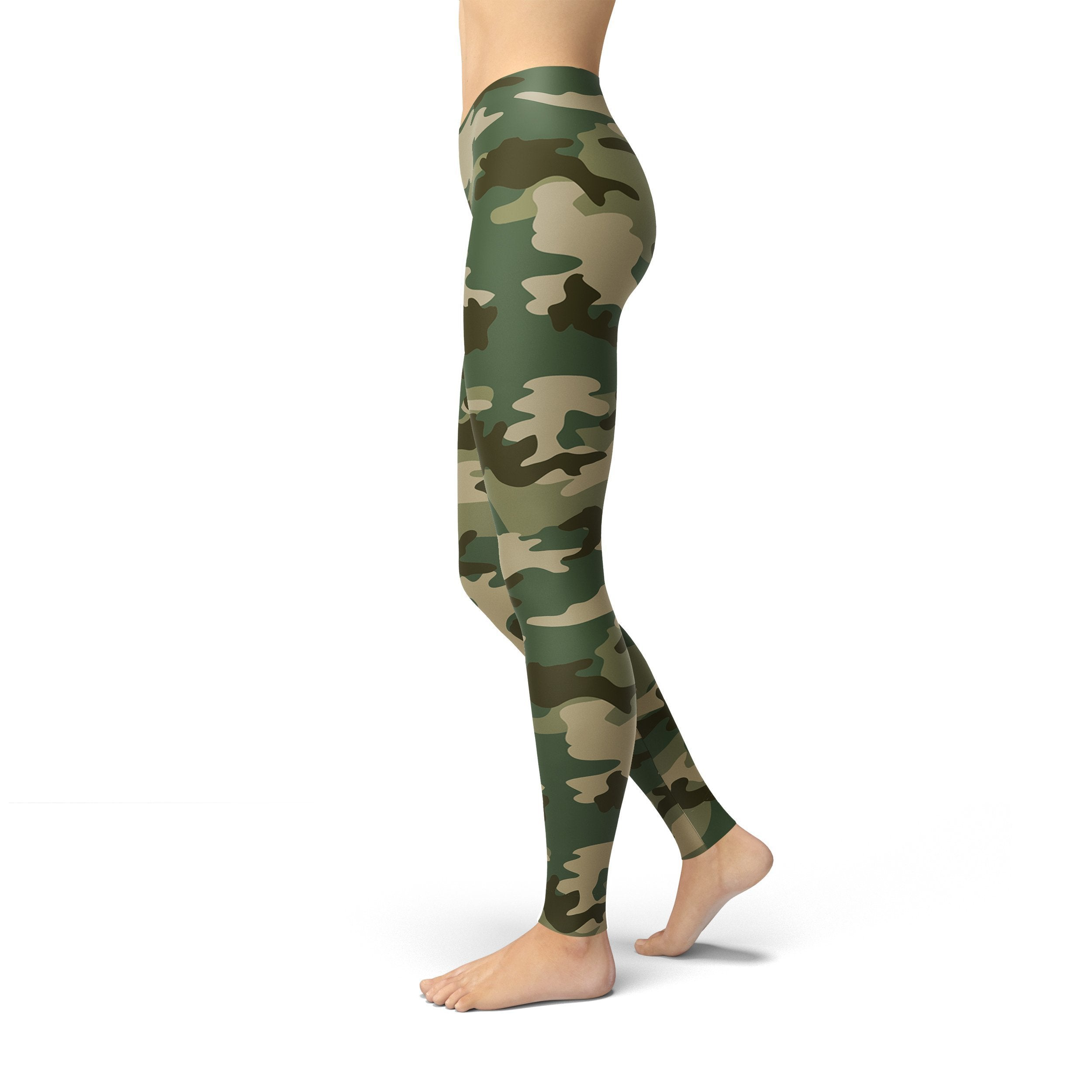 Ladies Jean Green Camo