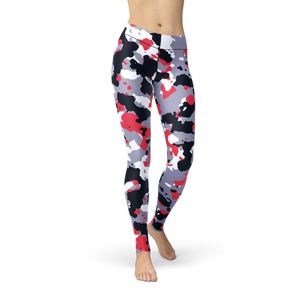 Ladies Jean Red White Camo