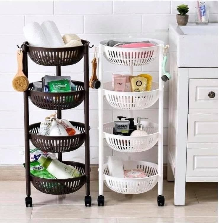 Home Appliances Rack 4 Tiers Slim Home Garden Storage Rack Kitchen Bathroom Cart Tower Small Flower Pot Holder with Wheels-DG250