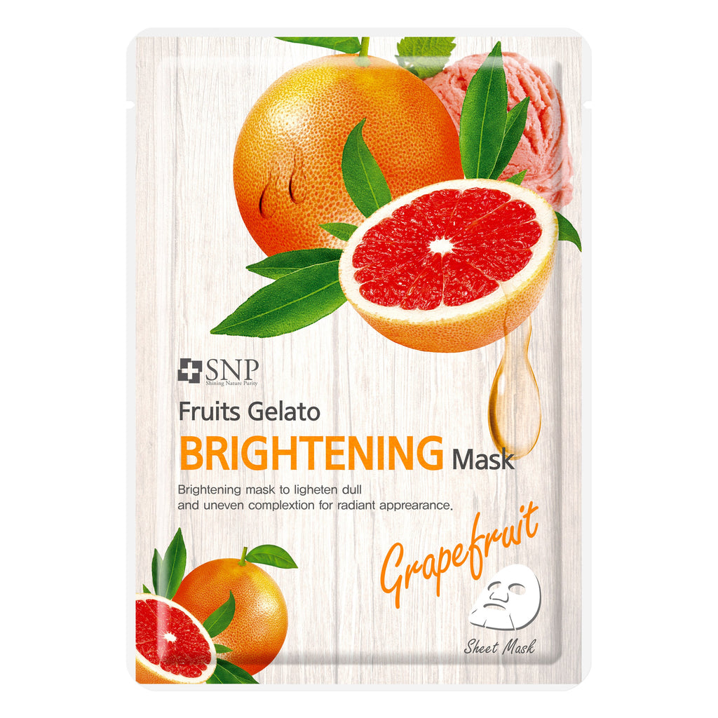 ម៉ាសបិតមុខ SNP Fruits Gelato Brightening Mask - M402