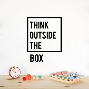 Decorative Wall Decal - Thinking Outside of The Box