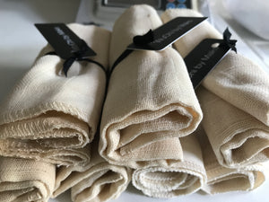 Organic WuChi Muslin Face Cloth x3