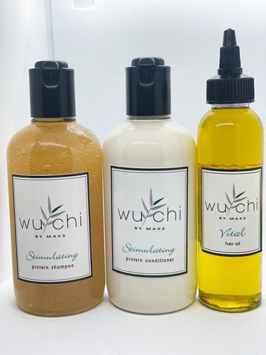Stimulating Hair Shampoo & Conditioner & Oil Set