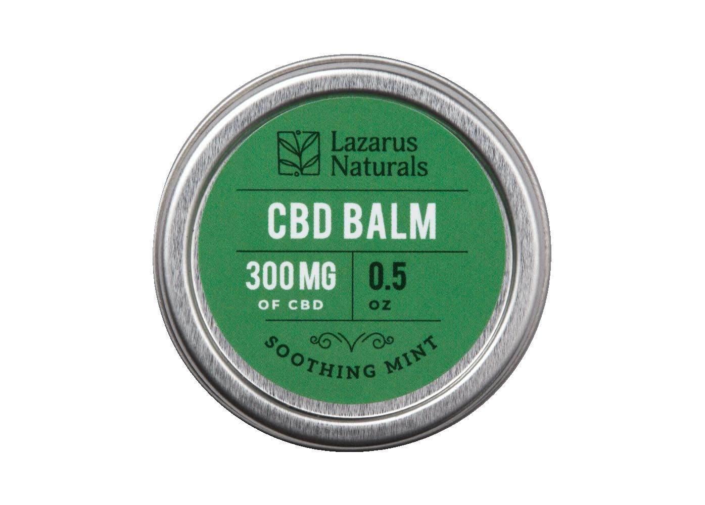 Lazarus Naturals Sooting Mint CBD Topical Balm - 300mg