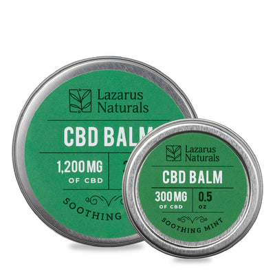 Lazarus Naturals Soothing Min CBD Balm - Topical Salve