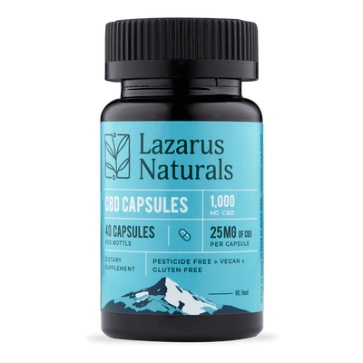Lazarus Naturals Full-Spectrum CBD Capsules 25mg - 40 Count