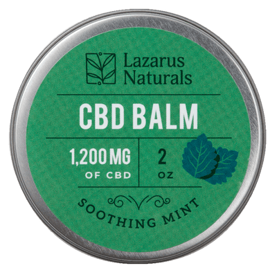Lazarus Naturals Soothing Min CBD Balm - Topical Salve 1200mg