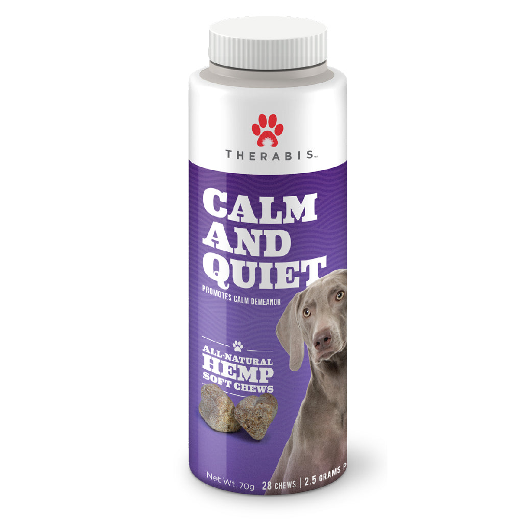 Therabis CBD Treats for Dogs and Cats- Calm and Quiet Soft Chews- 28 ct Tube