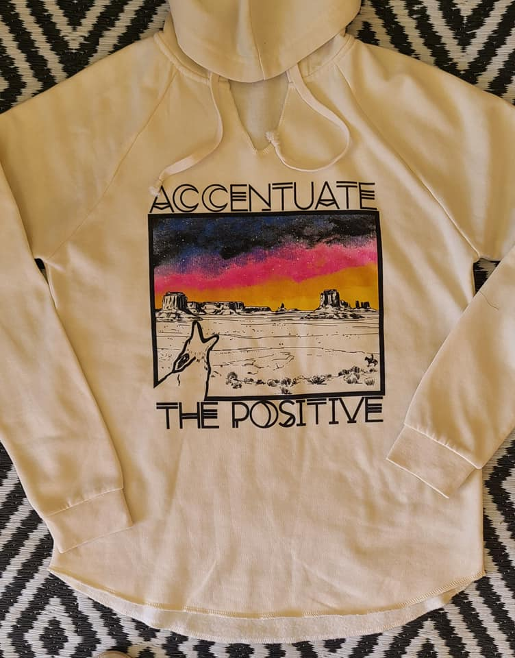 Accentuate the positive Hooded sweatshirt