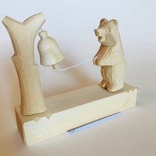 Load image into Gallery viewer, Wooden moving toy - Bear rings bell