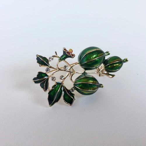 Gooseberry brooch pin