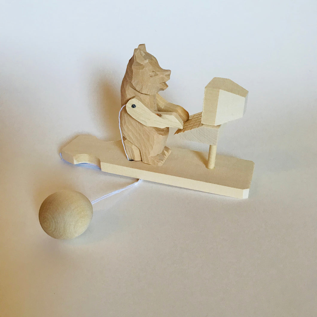 Wooden moving toy - Bear programmer