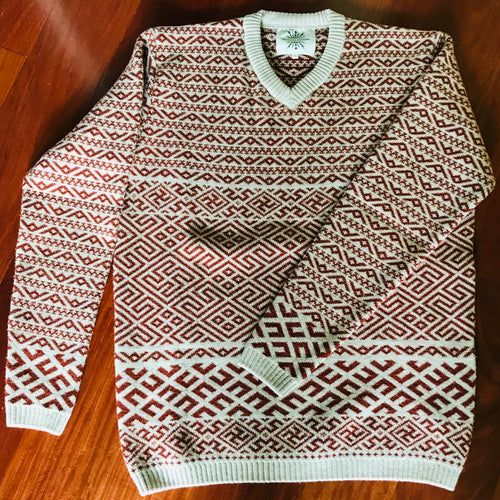 Sweater with traditional pattern