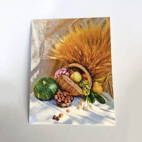 Postcard with Harvest theme