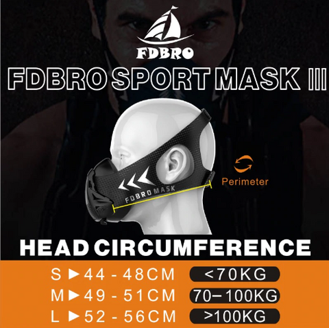 elevation training mask size reference