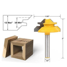 Load image into Gallery viewer, 45° Lock Miter Router Bit