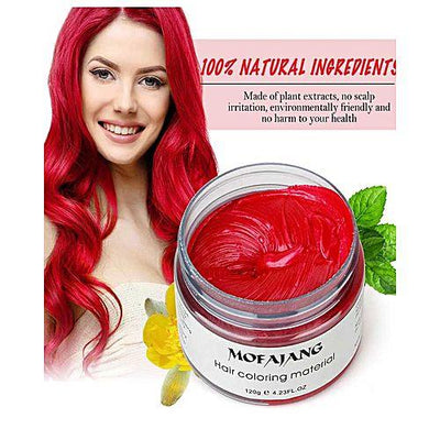 hair color wax red