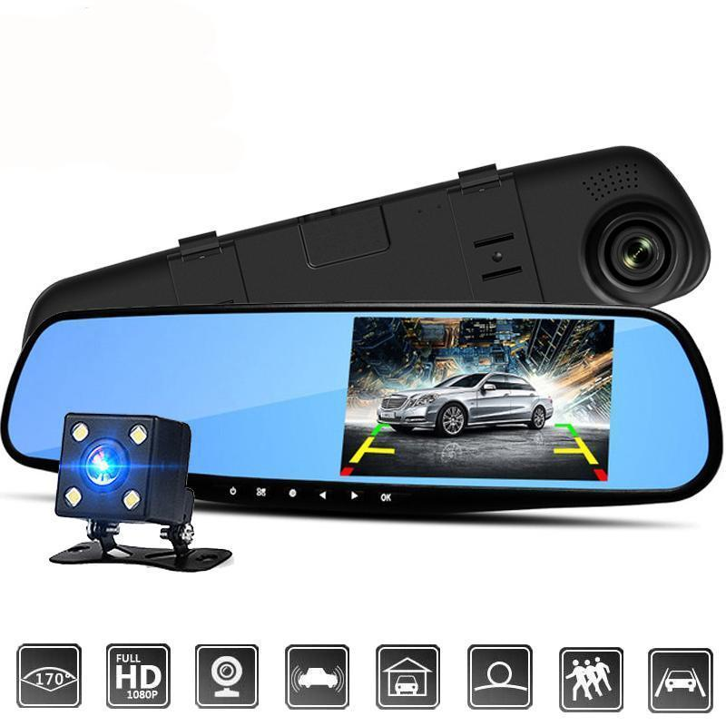 Dual Lens Dash Cam Vehicle Front Rear HD 1080P Video Recorder