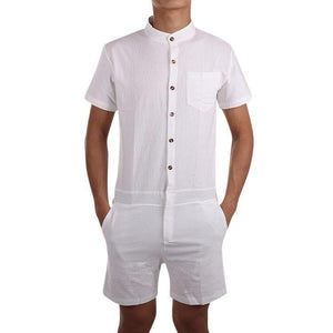 White Men's Romper