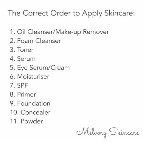 Correct Order to Apply Skincare