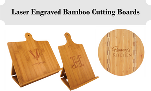 10% Off - SALE Bamboo Cutting Boards - Laser Engraved - Sale