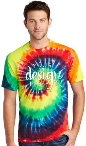 $13.85 SALE Screen Printed Tie-Dyed Tees - Sale
