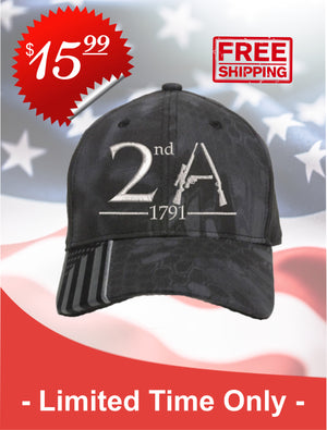 2nd Amendment Embroidered Cap