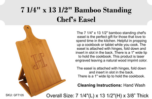 Bamboo Cutting Boards - Laser Engraved - 7.25 Easel / 1 /