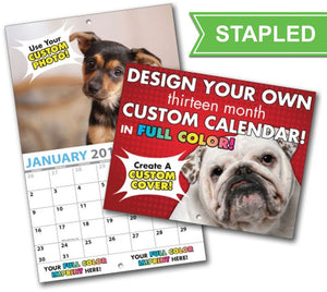 Calendars - 12 pages (4 cover/ 8 inside) / 1 / Stapled -
