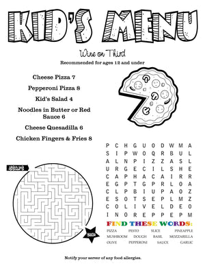 Children's Menus - Menu