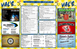 Dine In Menus - Waterproof/Tear Resistant - Menu