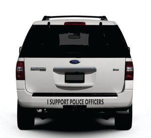 I Support Police Officers - Cut Vinyl Decal For Vehicle
