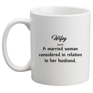 Wifey - Rustic - White 11 oz Ceramic Mug