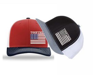 Together American Flag Embroidered Cap