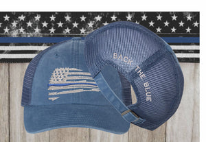 Back the Blue Embroidered Cap