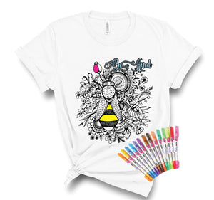 Be Kind Color It Yourself Bella+Canvas Tee