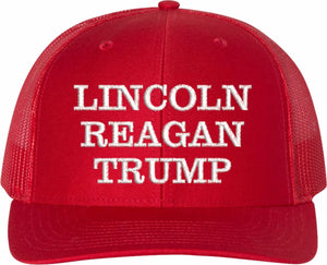 Lincoln, Reagan, Trump Cap