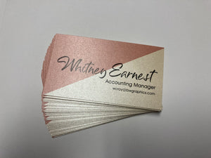 Business Cards - Petallics Digital Print - Business Cards