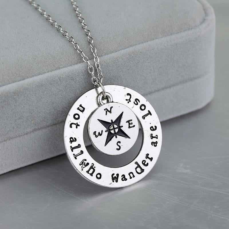 """Not all who wander are lost"" - Inspirational Necklace"