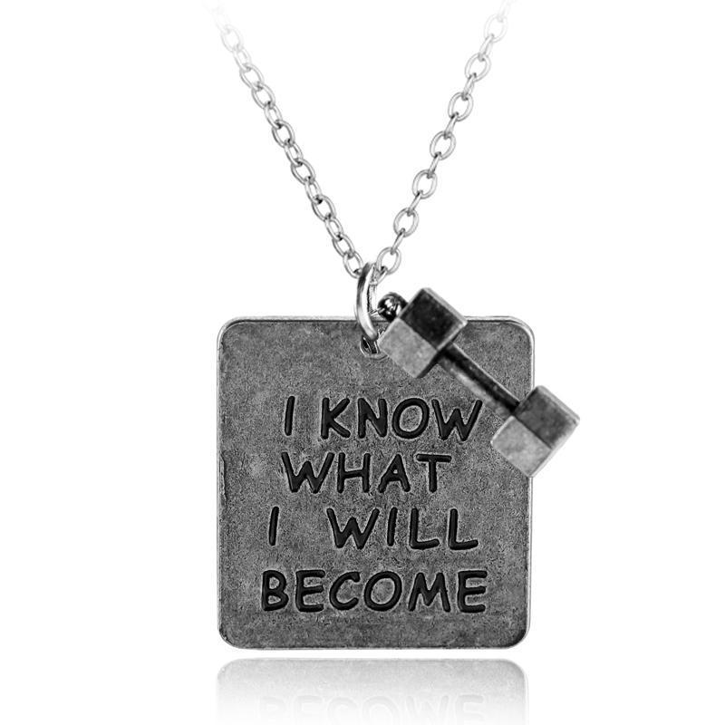 """I know I will become"" - Inspirational Necklace"