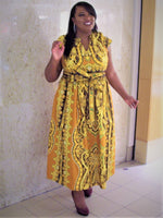 Golden Gate Authentic African Maxi Dress