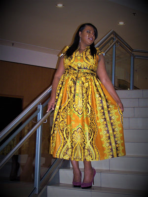 Golden Gate Authentic African Fashion - Maxi Dress