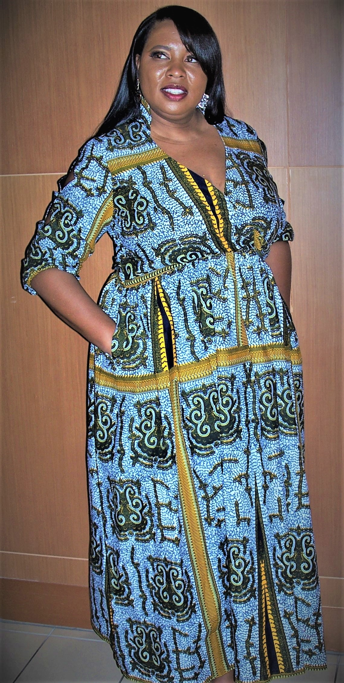 Golden Gate -  African Maxi Dress